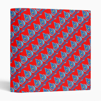 STAY COOL FISH Red Pattern - Chill Summer Fry Vinyl Binder