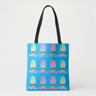Stay Cool Rainbow Cone Tote Bag