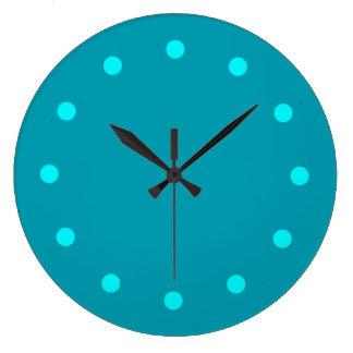 Stay Cool Teal Minimalist Clock