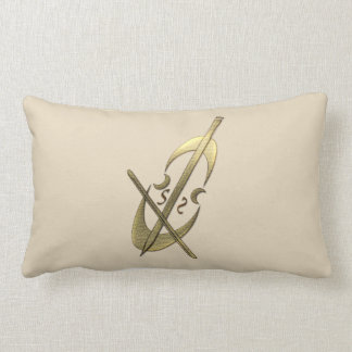 Stay Cozy Gold Cello Music  Musician Pillow