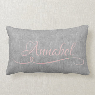 Stay Cozy Grey Silk Look Add Name Pillow
