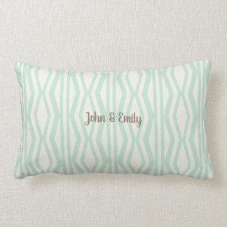 Stay Cozy Mint Cream Geometric Pattern Pillow