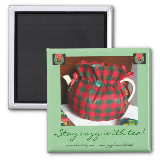Stay Cozy With Tea Christmas Magnet