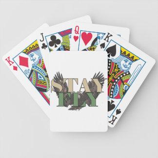 Stay Fly - Bald Eagle - Hunter Green Poker Deck
