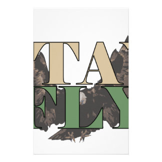 Stay Fly - Bald Eagle - Hunter Green Stationery