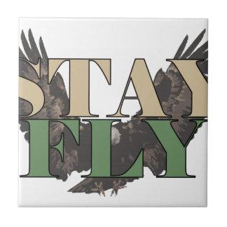 Stay Fly - Bald Eagle - Hunter Green Tiles