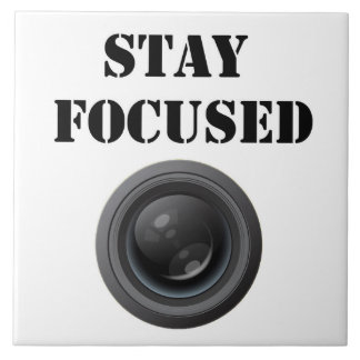 stay focused ceramic photo tile