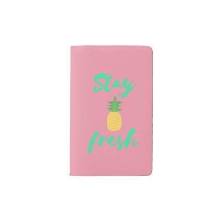 Stay Fresh Pineapple Notebook- Pink Pocket Moleskine Notebook