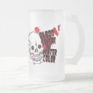 Stay Frosty Frosted Glass Mug