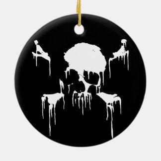 Stay Frosty Round Ceramic Ornament