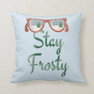 Stay Frosty Winter Saying Throw Pillow