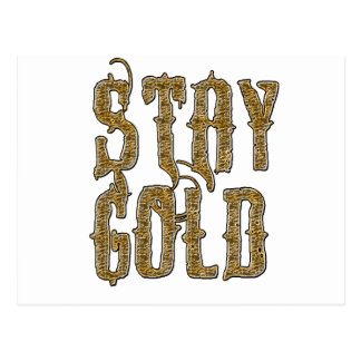 Stay Gold Postcard