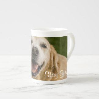 """Stay Golden"" Golden Retriever Bone China Mug"