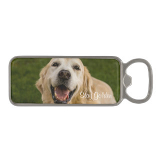 """Stay Golden"" Golden Retriever Bottle Opener"