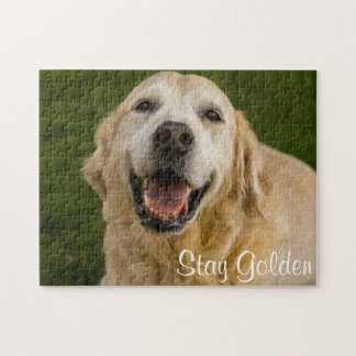 """Stay Golden"" Golden Retriever Puzzle"