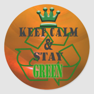Stay-Green Classic Round Sticker