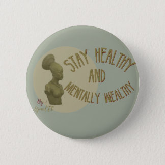Stay healthy ocean blue button