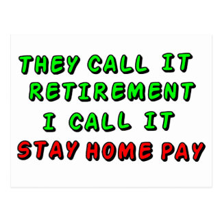 Stay Home Pay Postcard