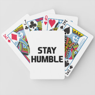 Stay Humble Bicycle Playing Cards