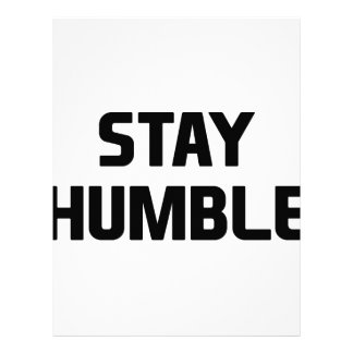 Stay Humble Letterhead