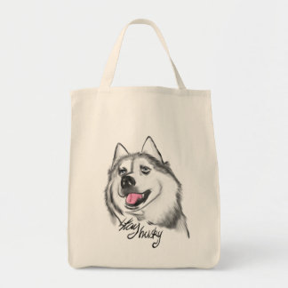 Stay husky grocery bag