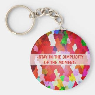 Stay-in-Keychain-carry-keys Basic Round Button Keychain