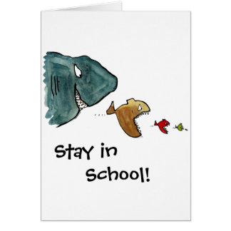 stay in school greeting card