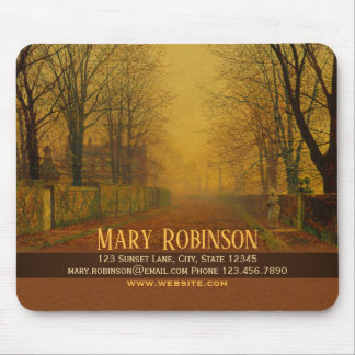 Stay in touch Evening glow Atkinson Grimshaw Mouse Pad