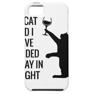 Stay In With Cat Tonight iPhone 5 Cover