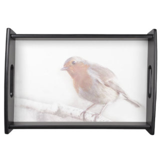 Stay, little cheerful Robin! Service Tray