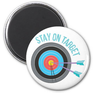 Stay On Target 2 Inch Round Magnet