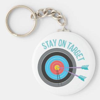 Stay On Target Basic Round Button Keychain
