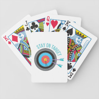 Stay On Target Bicycle Playing Cards
