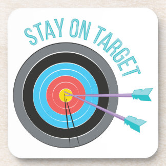 Stay On Target Drink Coaster