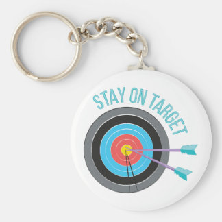 Stay On Target Keychain