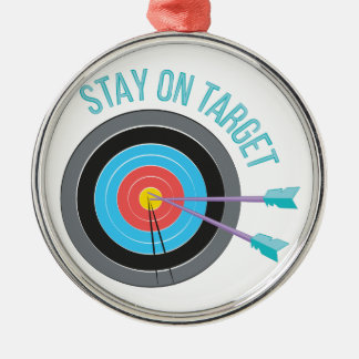 Stay On Target Metal Ornament
