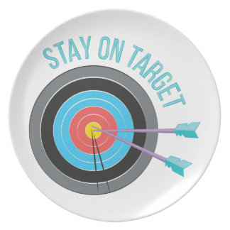Stay On Target Party Plates