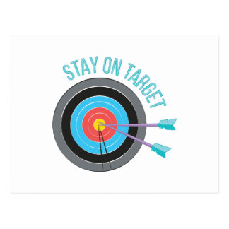 Stay On Target Postcard