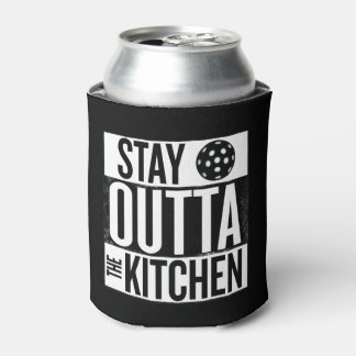 """Stay Outta the Kitchen"" Pickleball Can Cooler"