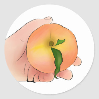 Stay Peachy Classic Round Sticker
