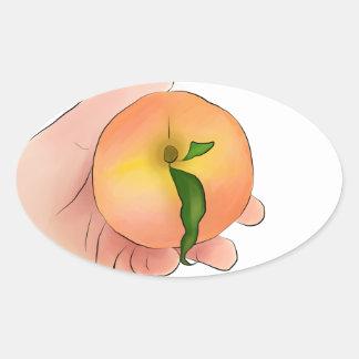 Stay Peachy Oval Sticker