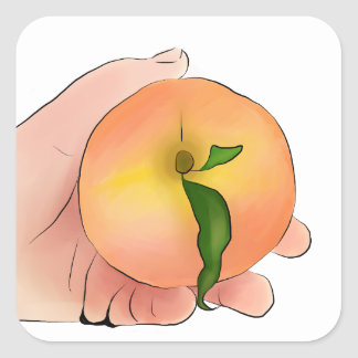 Stay Peachy Square Sticker