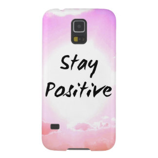 Stay Positiv Quote Pink Sky Galaxy S5 Case