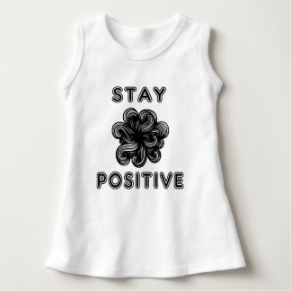 """Stay Positive"" Baby Sleeveless Dress"