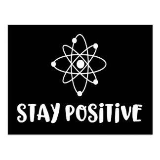 Stay Positive Funny Scientific Positivity Postcard