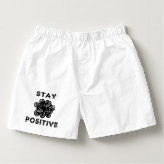 """""""Stay Positive"""" Men's Cotton Boxers"""
