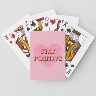 Stay Positive Playing Cards, Standard Index faces Playing Cards