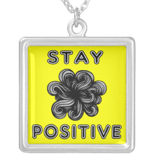 """""""Stay Positive"""" Sterling Silver Necklace"""