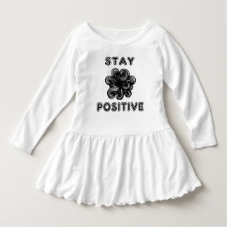 """Stay Positive"" Toddler Ruffle Dress"