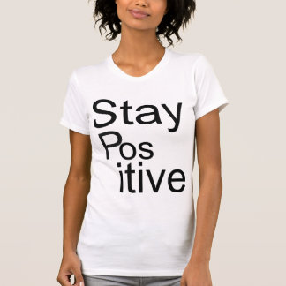 """Stay Positive"" V-neck T-shit T-Shirt"